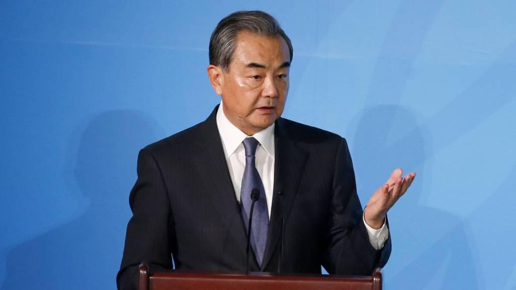 Chinas Aussenminister schlägt optimistische Töne an