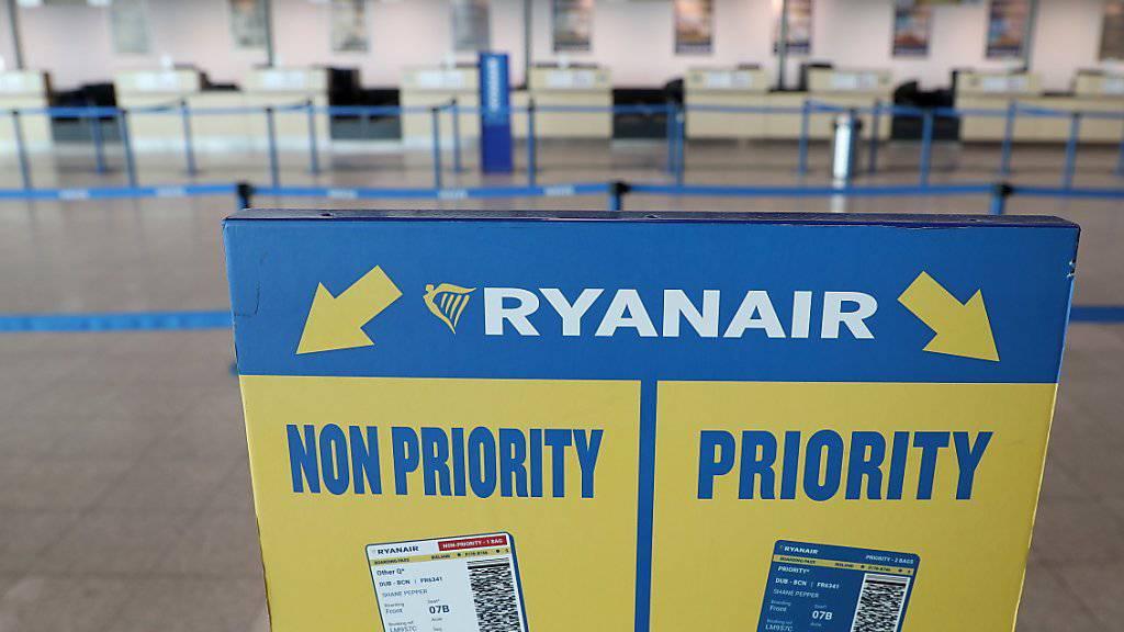 Personal im Streik: Tausende Passagiere müssen am Mittwoch auf ihren mit Ryanair in Deutschland geplanten Flug verzichten. (Archivbild)