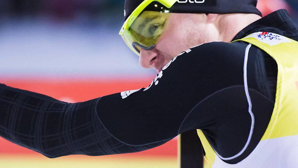Erschöpft: In einem sehr harten 30-km-Rennen konnte Dario Cologna nicht ganz mit den Besten mithalten