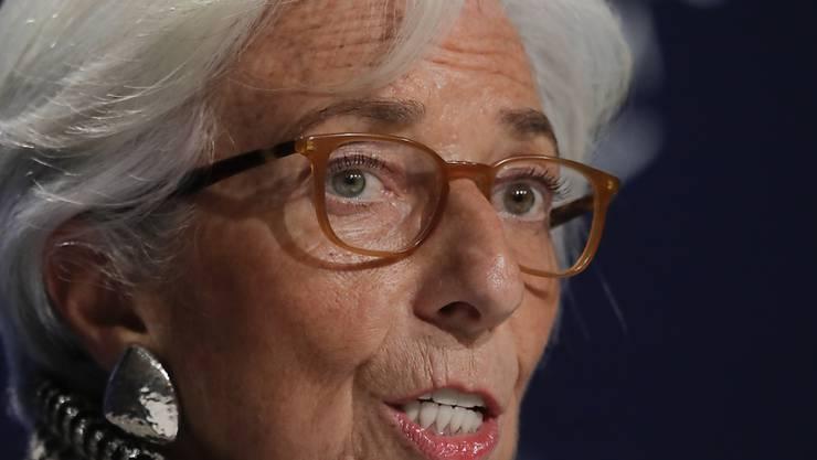 IWF-Chefin Christine Lagarde ist nicht beunruhigt durch die Fluktutationen auf den Märkten in den vergangenen Tagen. (Archivbild)