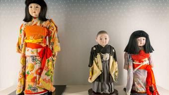 Japanische Puppen werden zurzeit im Spielzeug Welten Museum in Basel ausgestellt.
