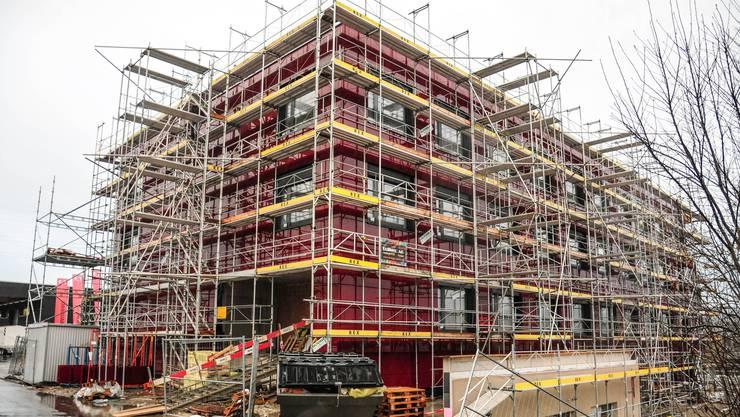Die vom KESD ins Auge gefassten neuen Räumlichkeiten an der Breitistrasse in Anglikon sind noch im Bau.