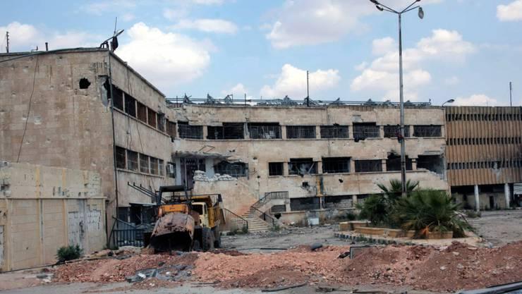 Überresten der Haftanstalt im syrischen Aleppo: Opfer berichten vom brutalen Vorgehen des Regimes unter anderem in Gefängnissen. (Symbolbild)