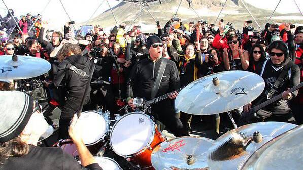 Metallica rockten den Südpol