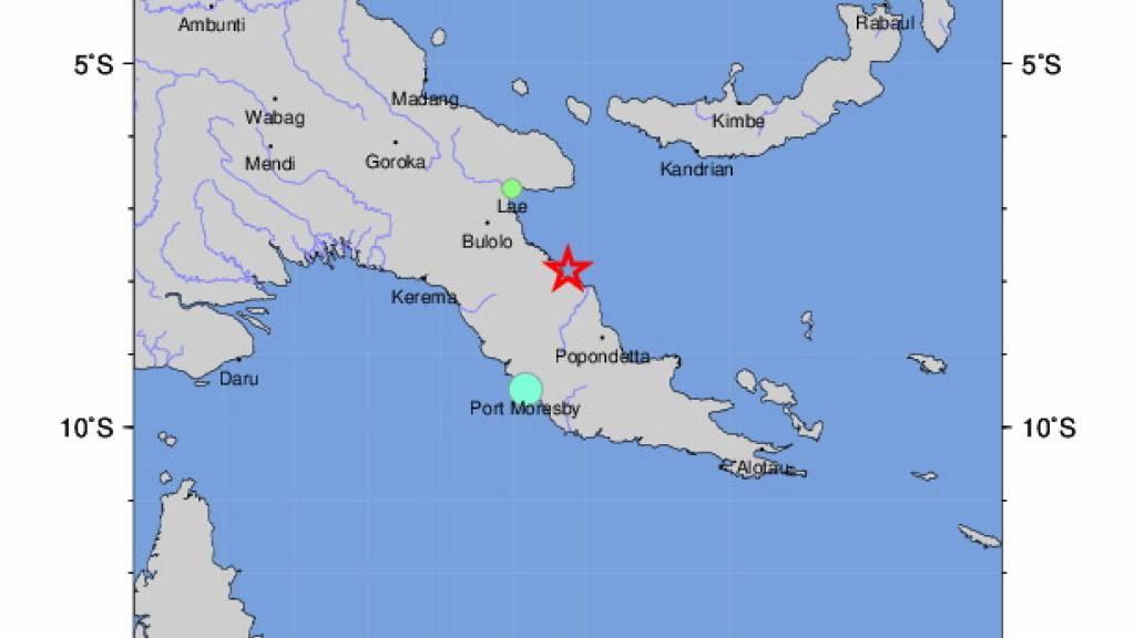 Erdbeben vor Papua-Neuguinea - Tsunami-Warnung wieder aufgehoben