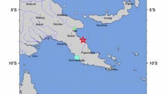Im Inselstaat Papua-Neuguinea hat ein Erdbeben am Freitag die Region erschüttert. Eine zunächst ausgesprochene Tsunami-Warnung wurde später wieder aufgehoben.