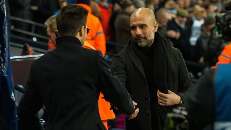 «Ich habe nicht alles verstanden, was er gesagt hat», gibt Raphael Wicky, angesprochen auf den Wortwechsel mit Pep Guardiola, zu.
