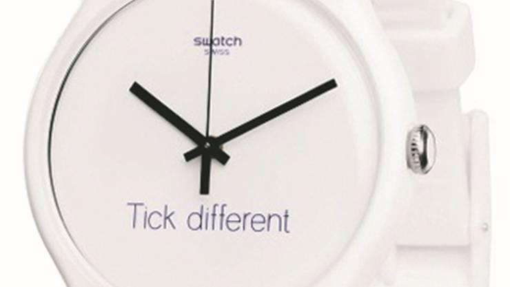 Swatch wirbt mit «Tick different», Apple mit «Think different».HO