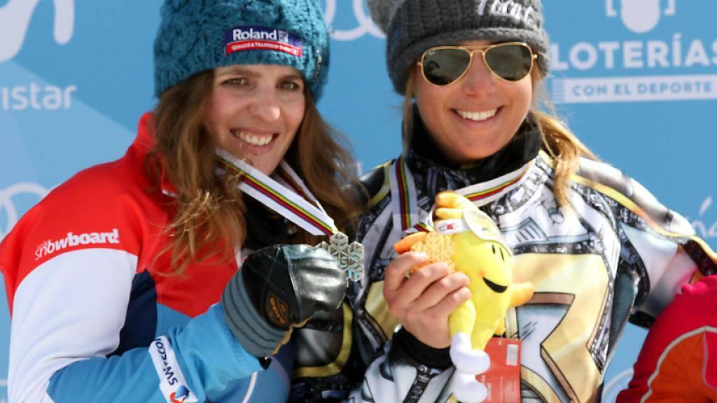 Musste im WM-Parallel-Riesenslalom in der Sierra Nevada nur der Tschechin Ester Ledecka den Vortritt lassen: Patrizia Kummer (links)
