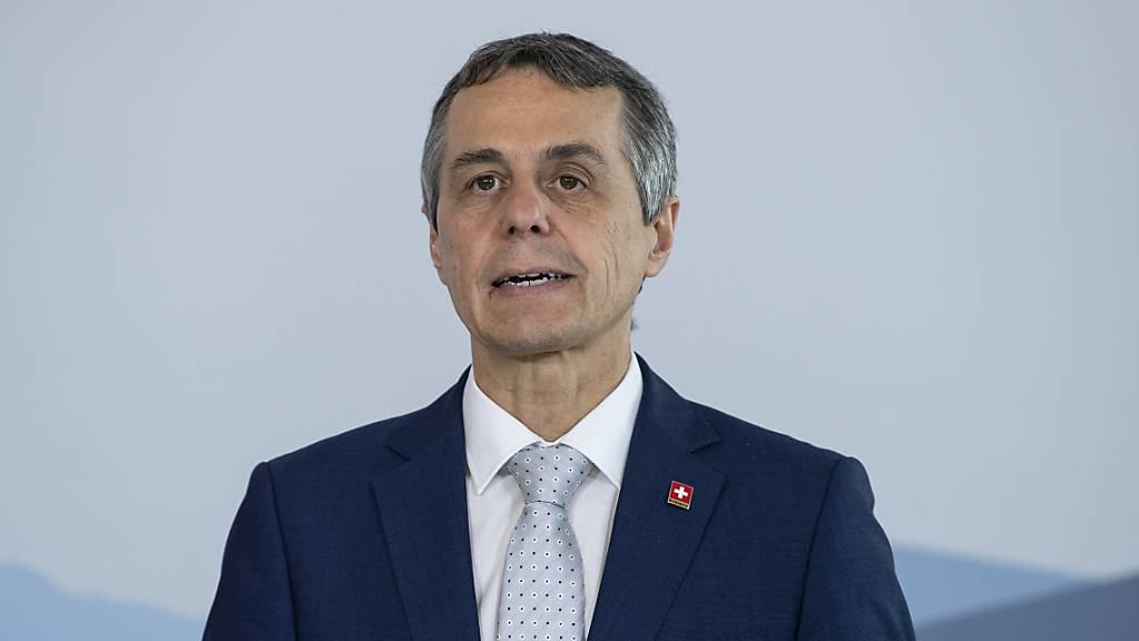 Aussenminister Ignazio Cassis will die Augen vor den Menschenrechtsverletzungen Chinas nicht verschliessen. (Archivbild)