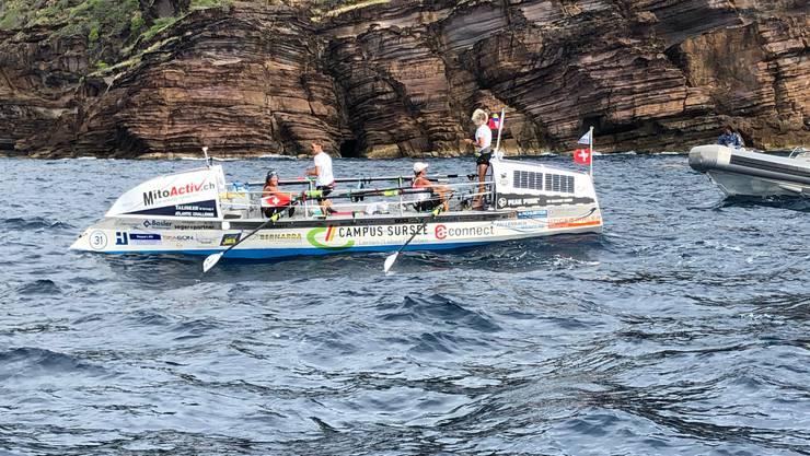 Die Swiss Ocean Dancer kommen am Ziel an.