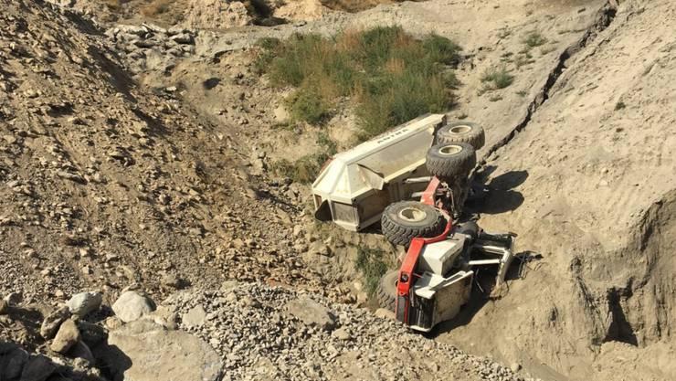 In einem Kieswerk in Raron VS endete im September 2018 ein Arbeitsunfall tödlich. (Archivbild)