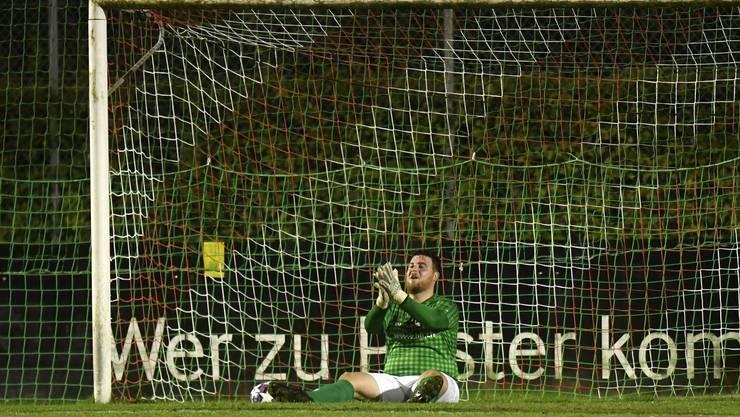 Nicht zu beneiden: Othmarsingens Goalie Leandro Russo muss zehnmal hinter sich greifen.