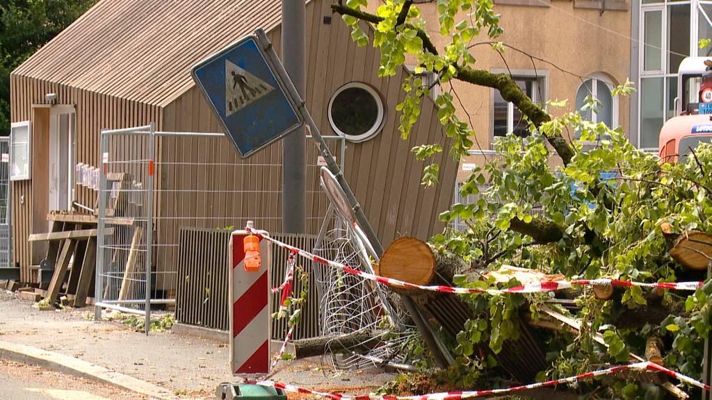 Heftige Gewitter: Mehrere Verletzte und hoher Schaden in Luzern