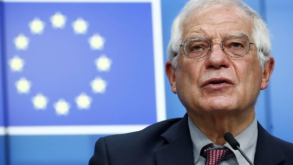 Der EU-Aussenbeauftragte Josep Borrell hat die USA dafür kritisiert, dass sie immer mehr Sanktionen gegen Länder und Unternehmen aussprechen. (Archivbild)