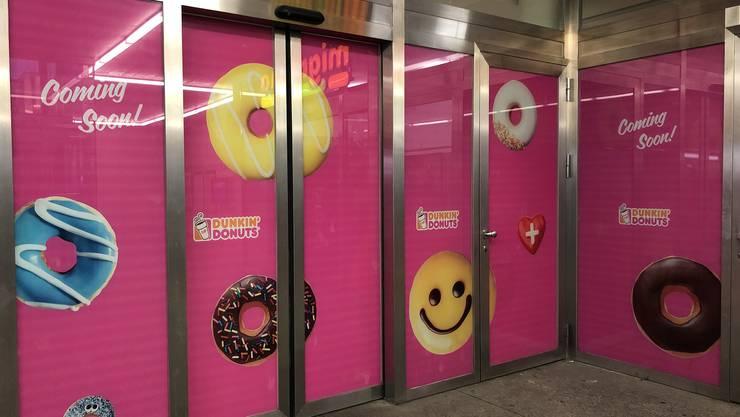 Bald Wirklichkeit: Dunkin'Donuts am Oltner Bahnhof.
