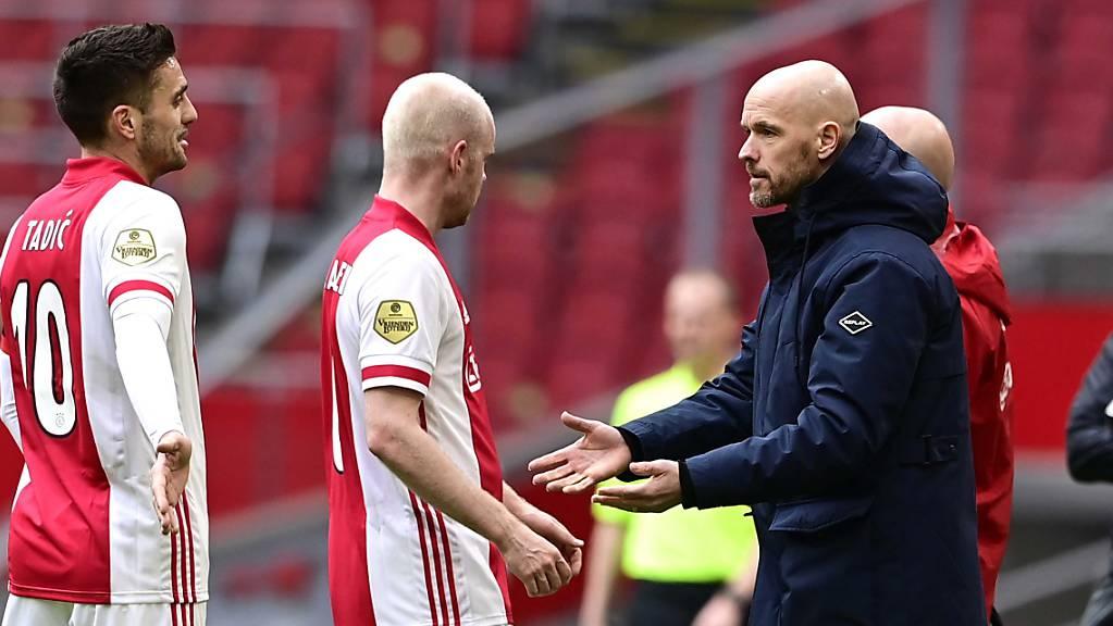 Ajax Amsterdam, die Mannschaft von Trainer Erik ten Hag (rechts), präsentiert sich in den letzten Monaten in hervorragender Form.