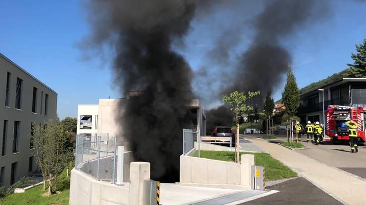 Die Einsatzkräfte der Feuerwehr wurden um 10.50 Uhr alarmiert.