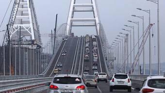 Bereits seit Mai 2018 kann die Krim-Brücke von Autos befahren werden.