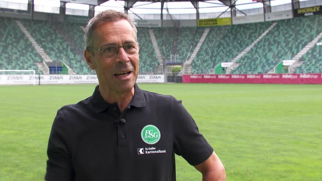 EM-Spektakel: ehem. Sportmoderator und FCSG-Präsident Hüppi