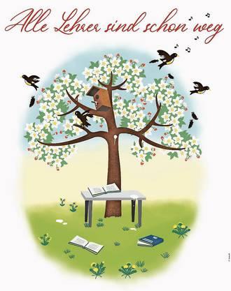 Das Plakat des Lehrerverbandes zum Thema Lehrermangel.