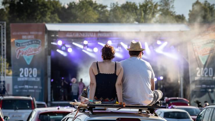 Erstes Drive-in Festival der Schweiz in Härkingen