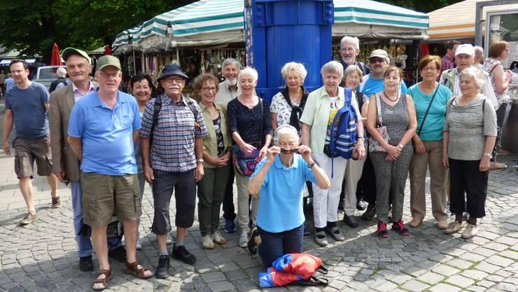 Die Gruppe am Viktualienmarkt in München