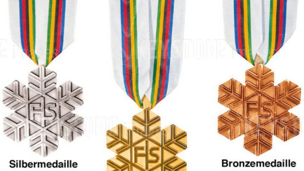 Die begehrtesten Auszeichnungen in den kommenden zwei Wochen im Engadin: die Medaillen der Ski-WM in St. Moritz