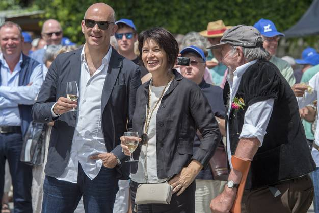 Bundesrat Alain Berset und Doris Leuthard.