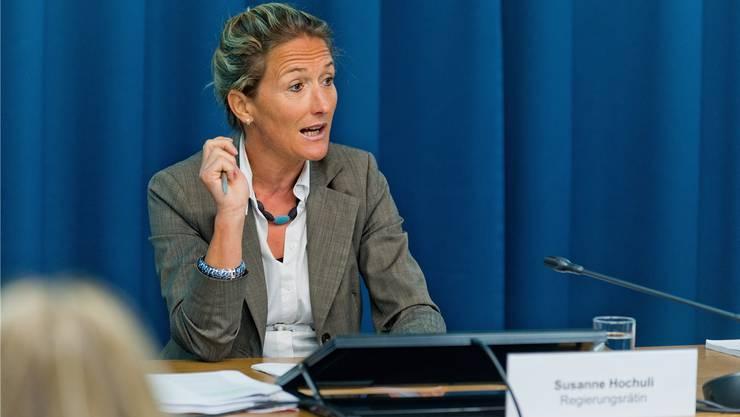 Ob Regierungsrätin Susanne Hochuli nochmals kandidiert, ist noch nicht klar. (Archiv)