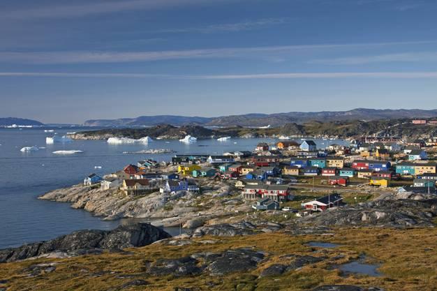 Farbenfroh: Ilulissat, auf Dänisch Jakobshavn, ist der drittgrösste Ort Grönlands und das Tor zum spektakulären Ilulissats Icefjord.