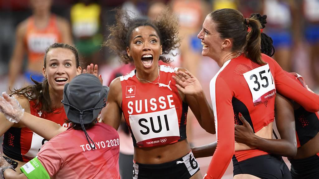 4x400-m-Staffel überragend zu neuem Schweizer Rekord