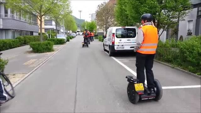 Stadtrundfahrt in Baden mit Segways