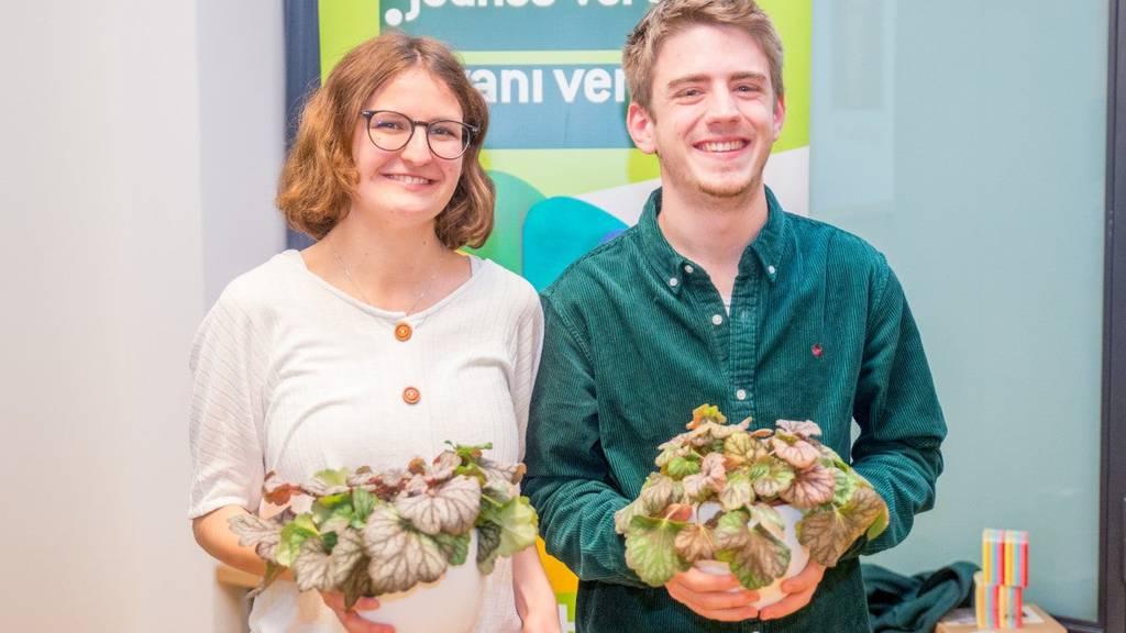 Zwei neue Gesichter an der Spitze der Jungen Grünen Schweiz
