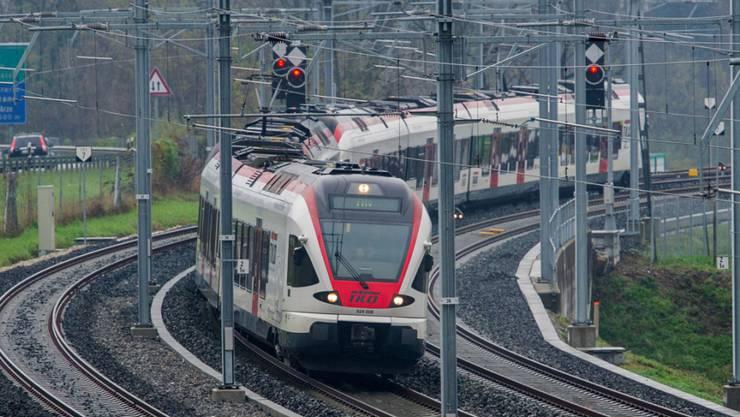 Streckenunterbruch beim Bahnhof Liestal