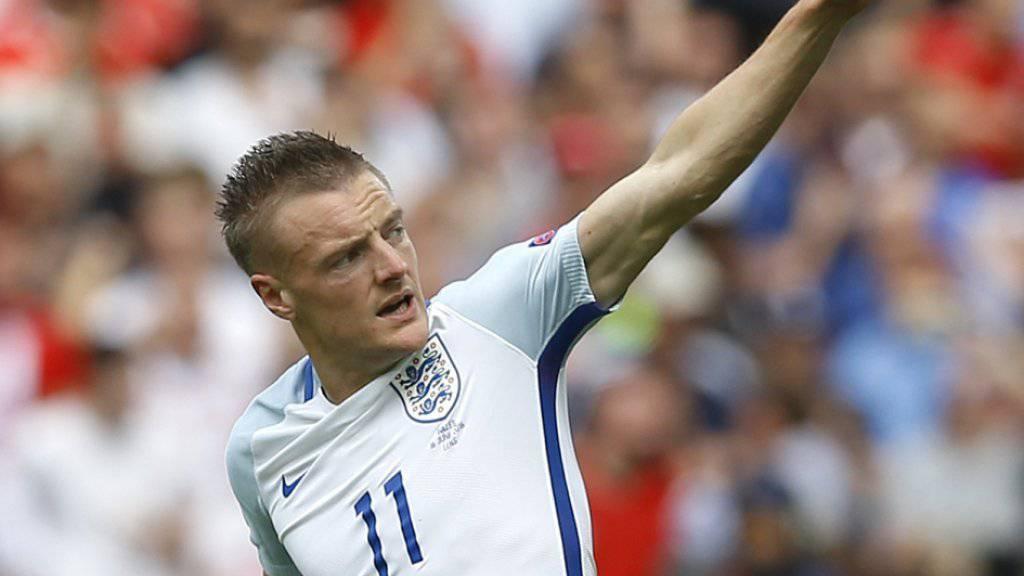 Jamie Vardy durfte an der EM bislang noch nicht von Beginn weg spielen, erzielte für England jedoch ein wichtiges Tor gegen Wales