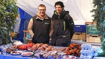 Philipp und Karin Hengartner, die Betreiber des Ruttiger Adventsmarkts.