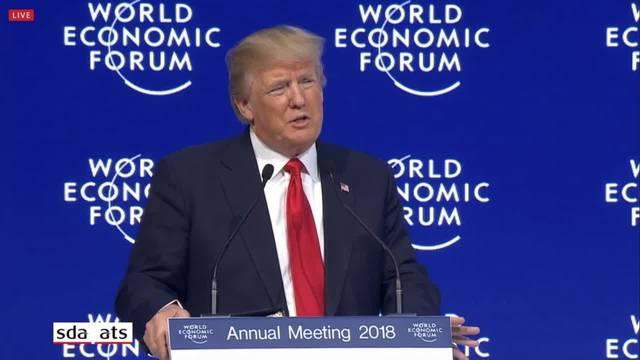 """Trump in seiner WEF-Rede: """"Investieren Sie in Amerika"""""""