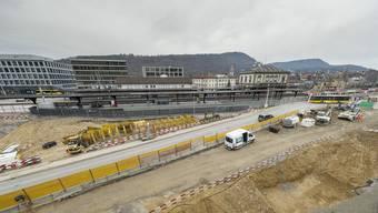 Baustellenführung am Bahnhof Liestal