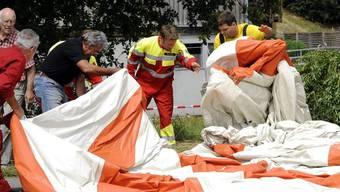 Gasballon-Unfall in Fisibach Im Juni 2011