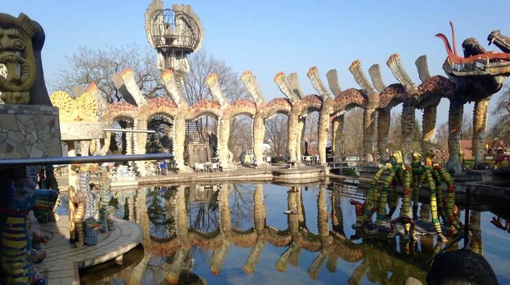 «Wassergarten mit Doppel-Flughund» (1996-99).