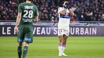 Lyon und Memphis Depay (11) agieren in der Meisterschaft derzeit glücklos (Archivbild)