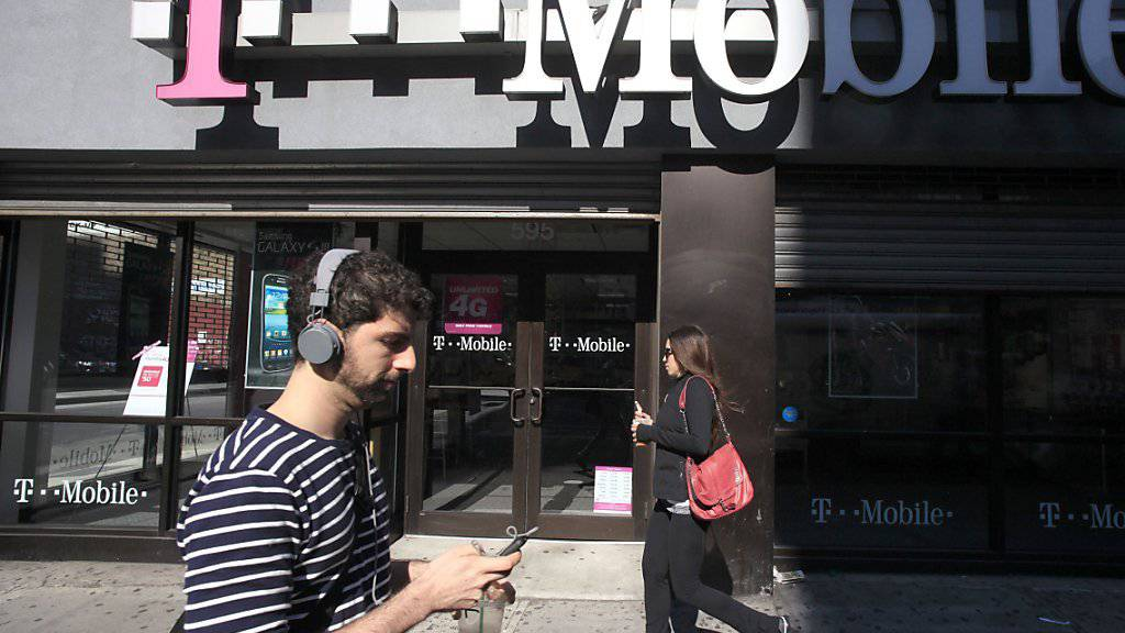 T-Mobile-Laden in New York: Die US-Tochter der Deutschen Telekom wurde Ziel eines grossangelegten Hackerangriffs.