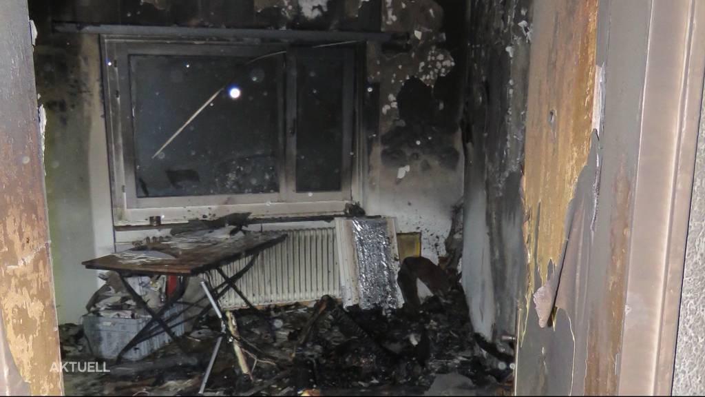 Wohnungsbrand Aarau: War ein Joint die Ursache?