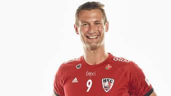 Der sanfte Riese des HSC Suhr Aarau: Martin Prachar bestreitet gegen den BSV Bern Muri seine 100. Meisterschaftspartie im HSC-Trikot.