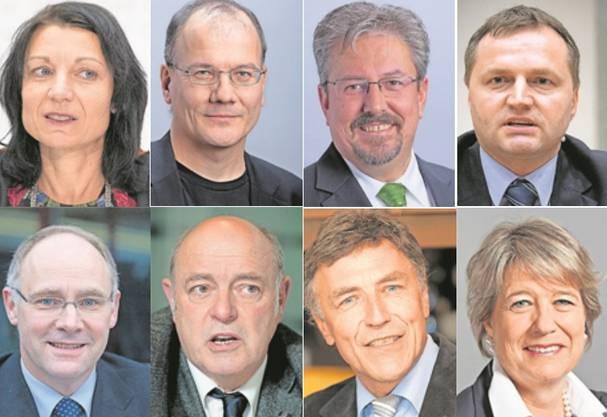 Aargauer Nationalräte, die vielleicht für, aber nicht von der Politik leben