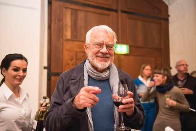 Dieter Zimmermann aus Biberist kommt immer, wenn es sich einrichten lässt, an die Preisverleihungsfeier. «Ich habe einfach Interesse an der Kunst», sagt er.