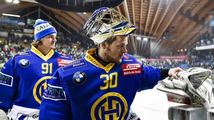 Leonardo Genoni konnte mit dem HC Davos drei Mal die Schweizer Meisterschaft gewinnen.