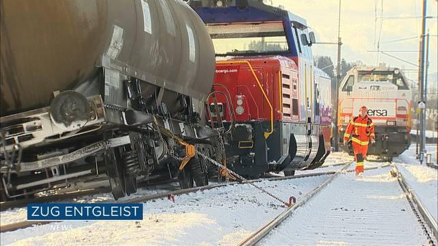 Güterzug in Arnegg entgleist