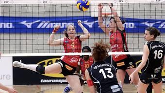 Eine Szene aus dem Playoff-Finalspiel zwischen Volero und Neuenburg